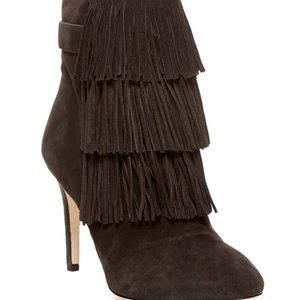 Shoes - Via Spiga fringed booties